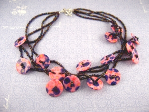Button Glam necklace project by Photobeads