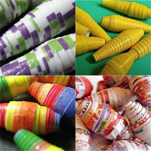 Paper beads by VividEarthDesigns