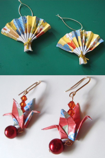 Origami beads from My Paper Eden