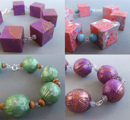 Paper covered beads from Tiffany's Atelier