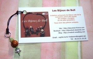 Cell phone charm from Les Bijoux de Bull