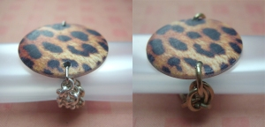 Chained Leopard rings