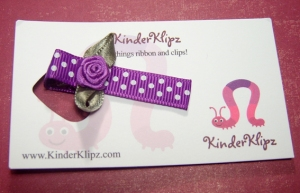 Cute hair clip from KinderKlipz