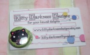 Kawaii button from KittyDarknessDesigns