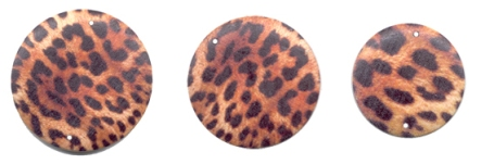 Safari Pendants with real leopard fur!