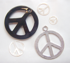 Peace sign pendants and charms