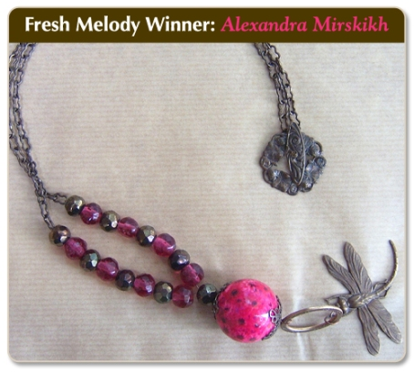 Summer Nights necklace - winner of the May 2009 Fresh Melody Vintaj challenge!